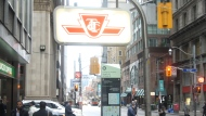 A TTC subway sign is shown in this file photo. (Chris Fox/CP24.com)