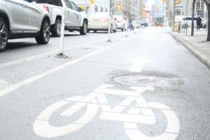 A bike lane is shown in this file photo. (Chris Fox/CP24.com)