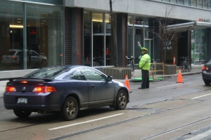 A paid duty police officer is shown in this file photo. (Chris Fox/CP24.com)