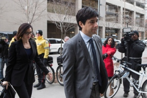 Former CBC radio host Jian Ghomeshi arrives at a Toronto court on Friday, Feb. 5, 2016. THE CANADIAN PRESS/Chris Young