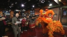 Chinese New Year , lion dance