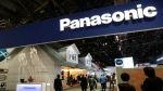 A Panasonic banner is displayed at at CES International Wednesday, Jan. 6, 2016, in Las Vegas. (AP /Gregory Bull)