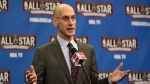 BA Commissioner Adam Silver speaks to the media at the Air Canada Centre in Toronto, Ontario, Canada, 13 February 2016. This is the first time the NBA All-Star game has been held outside the United States.  EPA/WARREN TODA