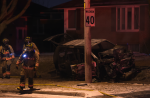 One person is in custody following a single-vehicle crash on Redwater Drive early Sunday morning. (Andrew Collins/ CP24)