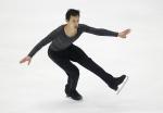 Patrick Chan of Canada performs to win the Men's Free Skating program at the Taiwan ISU Four Continents Figure Skating Championships in Taipei, Taiwan, Sunday, Feb. 21, 2016. (AP Photo/Wally Santana)