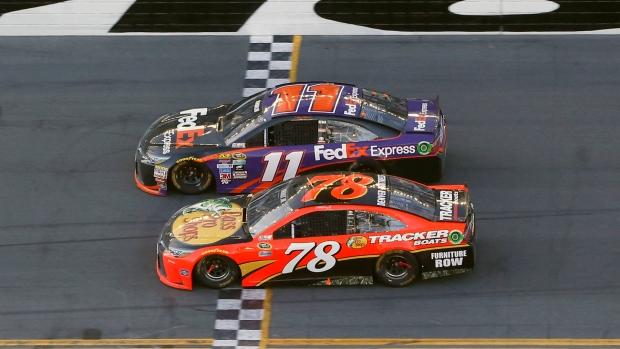 Hamlin Uses Daring Move To Give Joe Gibbs A Daytona 500 Win Cp24 Com