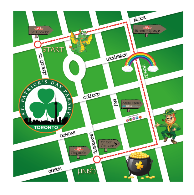 St. Patrick's Day Parade 2017 Route