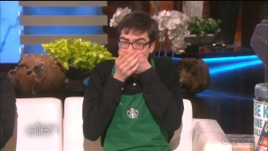 Sam, a Toronto barista who dances as he works, appears on an episode of the Ellen DeGeneres Show.