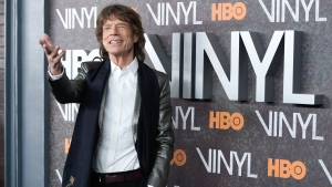 "In this Jan. 15, 2016 file photo, Mick Jagger attends the premiere of HBO's new drama series ""Vinyl"", at the Ziegfeld Theatre in New York. (Photo by Evan Agostini/Invision/AP)"