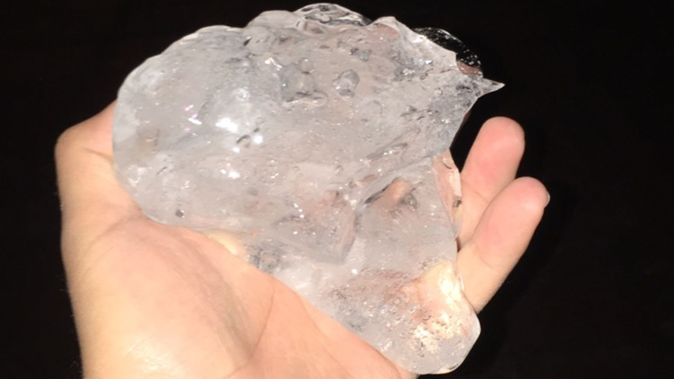 Ice chunks that fell from a building in downtown Toronto Saturday February 27, 2016 are pictured. (submitted)