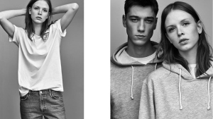 Models show off clothes from Zara's new 'ungendered' line in this image from the retailer's website.