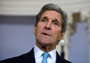 In this March 9, 2016, file photo, Secretary of State John Kerry speaks to reporters at the State Department in Washington. (AP Photo/Susan Walsh, File)