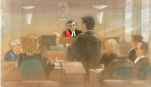 Lawyers are shown in court during a ruling on an elderly Toronto man's application for a doctor-assisted death. (John Mantha/ CTV News)