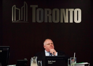Toronto Mayor Rob Ford attends an executive committee meeting at Toronto City Hall on May 28, 2013. Former Toronto Mayor Rob Ford, whose scandal-plagued time in office made him an international celebrity, has died. THE CANADIAN PRESS/Michelle Siu
