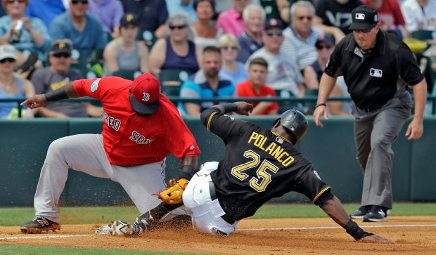 Sandoval benched by Red Sox, who give Shaw third-base job