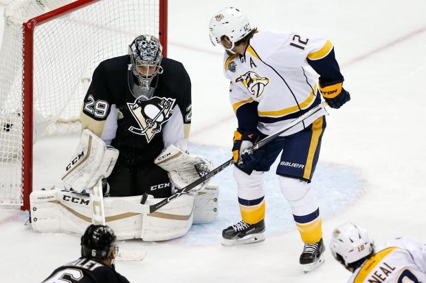 Pittsburgh Penguins goalie Marc-Andre Fleury