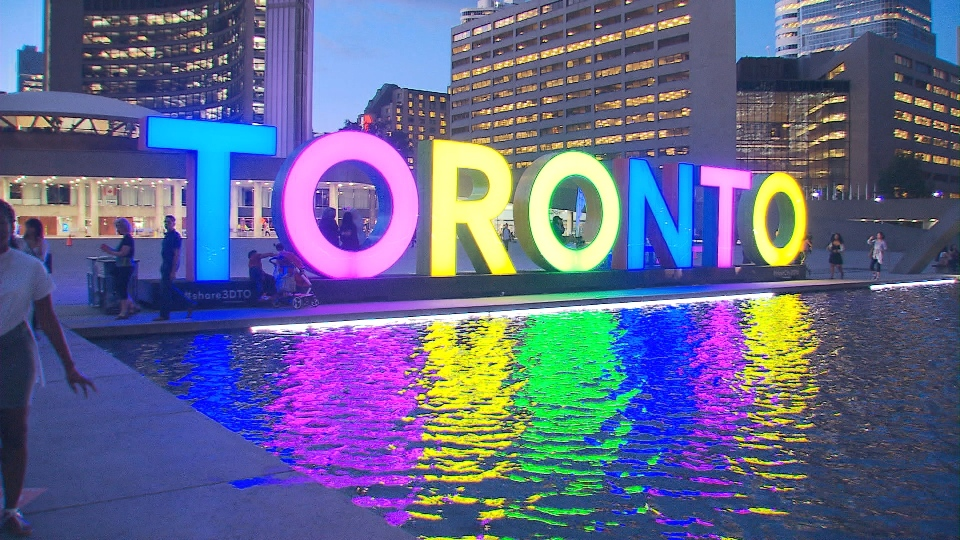 The Toronto sign is seen at Nathan Phillips Square in this file photo.  (CP24)