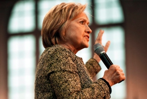 Democratic presidential candidate Hillary Clinton speaks at Carnegie Mellon University at a campaign stop, Wednesday, April 6, 2016, in Pittsburgh. (AP Photo/Keith Srakocic)