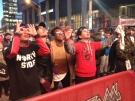Raptors fans at Jurassic Park