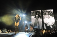 Beyonce performs during the Formation World Tour at Marlins Park on Wednesday, April 27, 2016, in Miami, Florida. (Photo by Frank Micelotta/Invision for Parkwood Entertainment/AP Images)