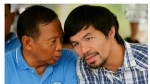 Filipino boxing champion and senate candidate Emmanuel Manny 'Pacman' Pacquiao (R) and Presidential candidate Vice president Jejomar Binay (L) speaks during a political campaign in the town of Bay, Laguna province, Philippines, 28 April 2016. The Philippine senate election will be held on 09 May 2016. Philippine President Benigno Aquino said that the Abu Sayyaf terrorist group, which pledged allegiance to the Islamic State (IS) had allegedly hatched plots to kidnap Manny Pacquiao or one of his children in a statement to the media.  EPA/FRANCIS R. MALASIG