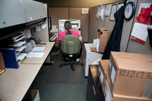 An office worker is seen in this file photo. (AP Photo/Cliff Owen)