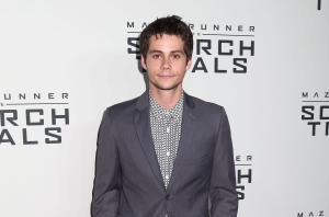 "In this Sept. 15, 2015 photo, Dylan O'Brien attends the premiere of ""Maze Runner: The Scorch Trials"" in New York. Principal photography on ""Maze Runner: The Death Cure"" has been further delayed to allow O'Brien more time to recover from injuries he incurred during the shoot in mid-March. 20th Century Fox said in a statement Friday, April 29, 2016, that it looks forward to restarting production as soon as possible. (Photo by Greg Allen/Invision/AP, File)"