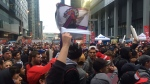 Raptors fans cheer on the team at Jurassic Park Sunday May 1, 2016. (Tracy Tong /CP24)