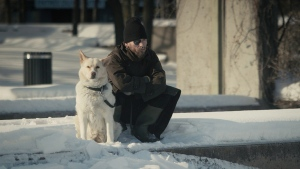 "A scene from the documentary ""A Dog's Life,"" is shown in a handout photo. The film explores the bond between the homeless and their devoted pets. THE CANADIAN PRESS/HO"