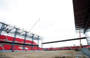 Phase two construction is shown during a tour at BMO Field where both the Toronto FC and Toronto Argonauts play in Toronto on Friday, April 1, 2016. THE CANADIAN PRESS/Nathan Denette