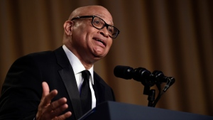 In this April 30, 2016 file photo, Larry Wilmore speaks at the annual White House Correspondents' Association dinner in Washington. (AP Photo/Susan Walsh, File)
