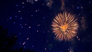 Firework are set off at Ashbridges Bay in this file photo. THE CANADIAN PRESS/Chris Young