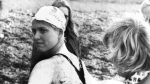 Canadian schoolgirl Cindy Nicholas, 17, from Scarborough,Ontario being greased before plunging into the English Channel July 18, 1975, in a bid to set a new cross channel swimming record. (AP PHOTO/Str-LON)