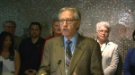 Art Eggleton speaks at a news conference in support of an Expo 2025 bid Tuesday May 24, 2016.