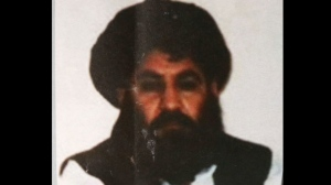 This Saturday, Aug. 1, 2015 file photo, shows Taliban leader Mullah Mansour. (AP Photo/Rahmat Gul)