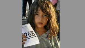 Mira Akram Al Jawabrah is shown in a family handout photo. Canadian relatives of a missing, five-year-old Syrian girl are appealing for help after a mysterious photograph (shown) surfaced on the Internet, suggesting she may have been the only member of her family to survive a bid to escape the war-ravaged country.THE CANADIAN PRESS/HO-Mohamed Masalmeh
