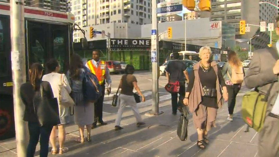 Shuttle buses are operating after a fire at Yonge Station suspended service between St. George and Pape stations on Line 2.