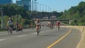 Becel Ride for Heart, road closures, DVP, Gardiner