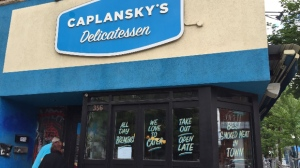 Caplansky's Deli on College Street is shown on June 7, 2016. (Colin D'Mello/CTV Toronto)
