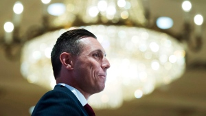 Ontario Progressive Conservative Leader Patrick Brown speaks to the Canadian Club in Toronto on Tuesday, June 7, 2016. (The Canadian Press/Nathan Denette)