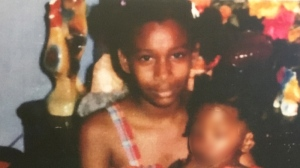 Melonie Biddersingh at around age 10 or 11 (Court exhibit)