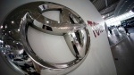 Toyota logo is seen at a Toyota showroom in Tokyo on Wednesday, June 29, 2016. (AP Photo/Eugene Hoshiko)