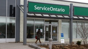 Service Ontario office in Kingston, Ont., on March 23, 2016. (Lars Hagberg/The Canadian Press)