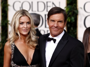 In this Jan. 16, 2011 file photo, actor Dennis Quaid and his wife Kimberly Buffington Quaid arrive for the Golden Globe Awards in Beverly Hills, Calif. Kimberly filed for divorce on Monday, June 27, 2016 in Los Angeles Superior Court, citing irreconcilable differences. (AP Photo/Matt Sayles, file)