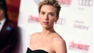 "In this April 13, 2015, file photo, Scarlett Johansson arrives at the Los Angeles premiere of ""Avengers: Age Of Ultron."" (Photo by Jordan Strauss/Invision/AP, File)"