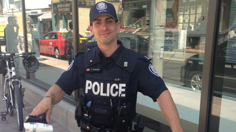 Chuck Krangle, a Toronto police officer who counts himself as a member of the city's LGBT community as well, is pictured.  (Submitted)