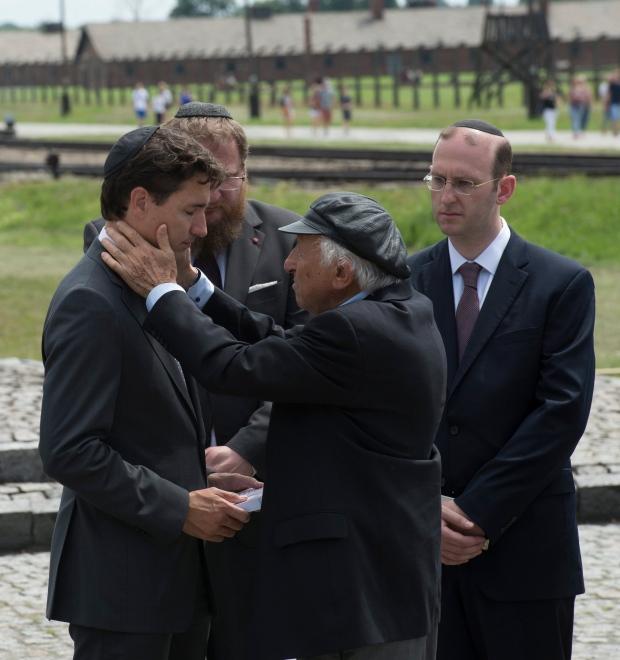 Justin Trudeau visits Auschwitz after attending North Atlantic Treaty Organisation summit
