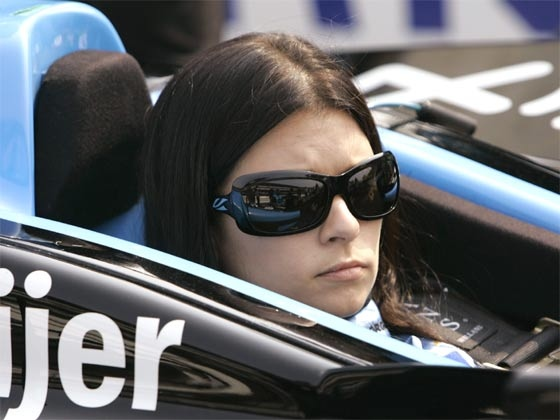 Danica Patrick sits in her car on the final day of practice for the Indianapolis 500 auto race at Indianapolis Motor Speedway in Indianapolis, May 25, 2007.  (AP / Rob Carr)