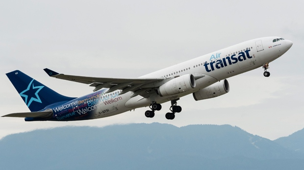 An Air Transat Airbus A330 (A330-200) jet airliner takes off from Vancouver International Airport, Richmond, B.C., May 21, 2016. THE CANADIAN PRESS IMAGES/Bayne Stanley