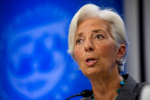 In this June 22, 2016 file photo, International Monetary Fund (IMF) Managing Director Christine Lagarde speaks during a news conference in Washington. (AP Photo/Cliff Owen)